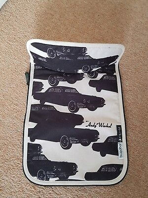 Bugaboo cameleon limited edition cars off white apron carrycot cover