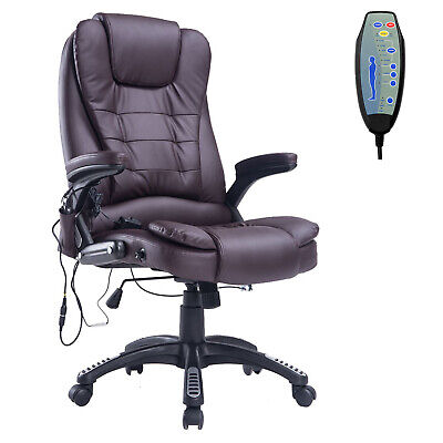 Homcom Pu Leather Office Chair Function High Home Large Seat Adjustable