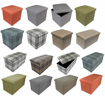 Stool Stool Storage Box Cube Stool Footrest Bench Foldable Pads