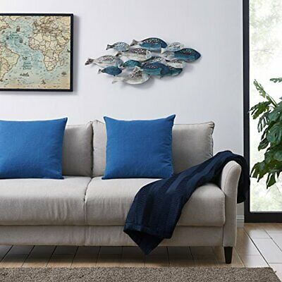 Coastal School of Fish Metal Wall Art Hanging Home Accent Architectural Decor