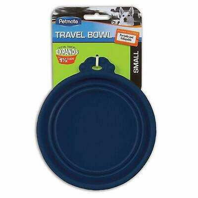 New Petmate 1.5 Cup (Case of 24) Silicone Round Travel Pet Bowl in Blue 23367