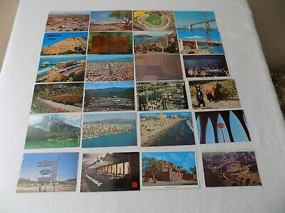 Lot of 125 Vintage Early 1960's Western United States And Canada Postcards