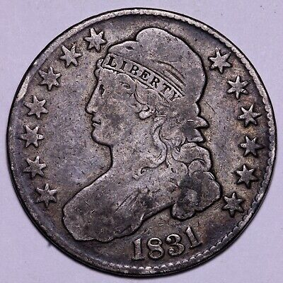 Nice, Original VG/FINE 1831 Capped Bust Half Dollar          J5WHY