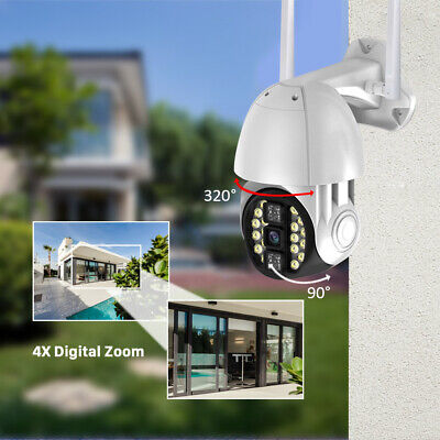 1080P IP WiFi Wireless Pan Tilt Security Camera Night Vision Sensor Waterproof
