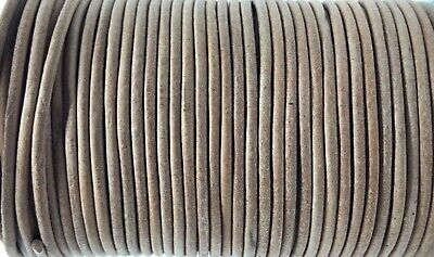 2.5mm Natural Real Leather Cord Thong String Lace 100m Jewellery Craft