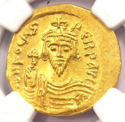 Byzantine Phocas AV Solidus Gold Coin 602-610 AD - Certified NGC MS (UNC)