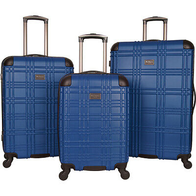 Ben Sherman Luggage Nottingham 3 Piece Hardside Spinner Luggage Set NEW