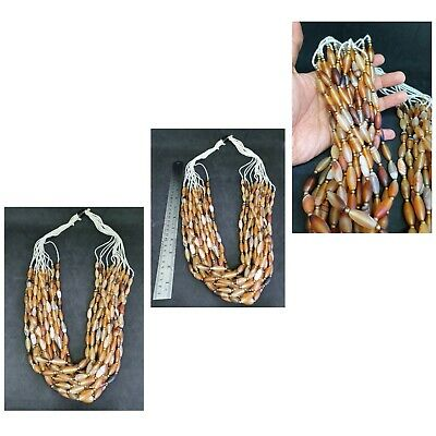 Beautiful Red Agate Wheat Shape Beads Strings With Rare Beautiful Color # W1