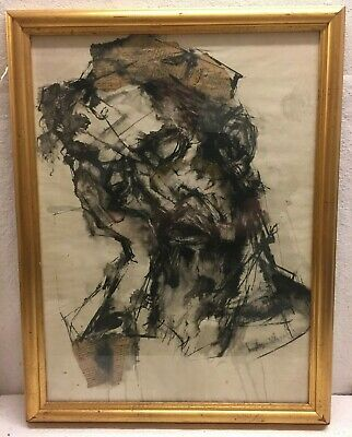 Collage Old Man Frame with Glass front Unknown Artist Denmark 62 x 48 cm
