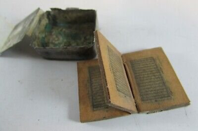 Early 1800's Silver Islamic miniature Holy WITH QURAN box/Amulet pendant Arabic