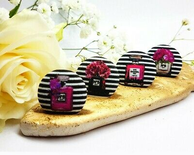 Set 8 Handmade Chanel style Perfume Bottle №5  Art Buttons Fashion Party Crafts