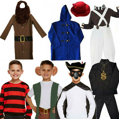 Childrens Kids Childs Boys World Book Day Week Fancy Dress Costume Outfit