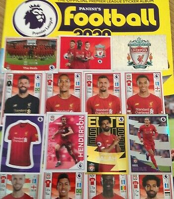 LIVERPOOL Panini Football 2020 Premier League stickers BUY 4 GET 4 FREE 3 POST