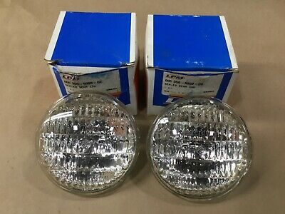 "Lot Of 2 Lpm Ge 4411 Sealed Beam Tractor Headlights 35W 12V 4.5"" #01G72Rm"