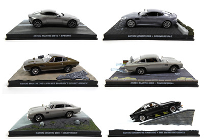 Set of 2 Model Cars James Bond 007 1:43 Lotus Esprit S1 Eaglemoss Diecast LJB3