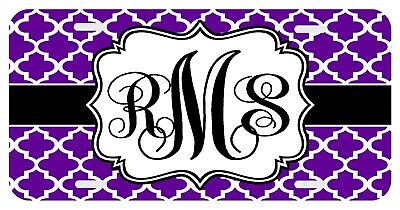 Personalized Monogrammed Hohloma Floral License Plate Custom Car Auto L125