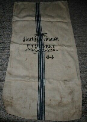 Antique German Linen Grain Feed Sack with horse,44