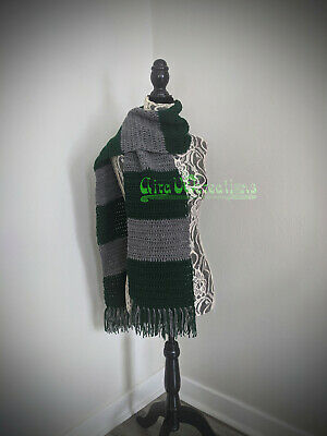 Wizard Slytherin inspired House Scarf - Vintage style