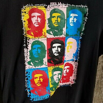 """Che Guevara Style Fashion Pendant Necklace with 28/"""" Black Cord K199"""
