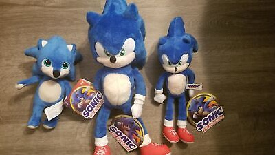 New Sonic Movie 2020 Plush 8 To 15in Toy Factory Stuffed Doll Figure 22 99 Picclick