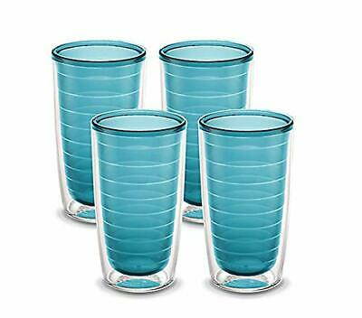 Tervis Clear & Colorful 4 Pack 16oz Tumbler Set, Purist Blue