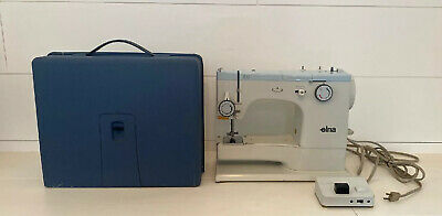 Elna SU(Super)with Multi Stitch decorative Programme Vintage Sewing Machine +