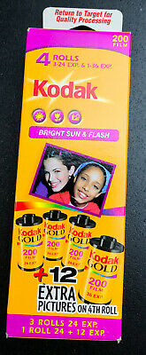 4 Rolls Kodak 200 Color 35mm Bright Sun & Flash 35mm Film 108 exp Total EXPIRED