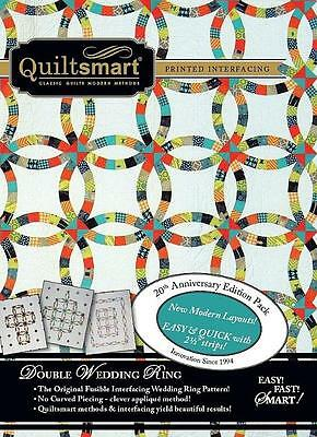 Quiltsmart Classic Pack Double Wedding Ring Fusible Interfacing Pattern Kit