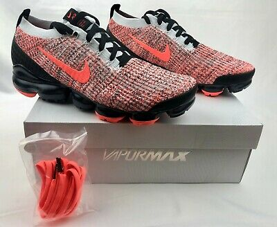 Nike Air Vapormax Flyknit 3 Bright Mango Black AJ6900-800 Men's sz NIB