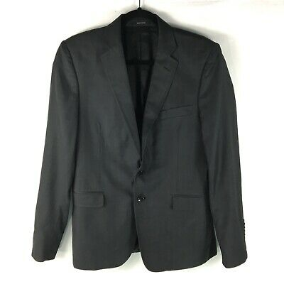 VERSACE Collection Suit Coat Blazer Jacket Mens Size 50 Gray Wool Two Button