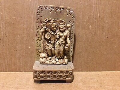 Vintage Chinese Tibetan Soapstone Buddhist Lovers Goddess Figure Ornament Stone