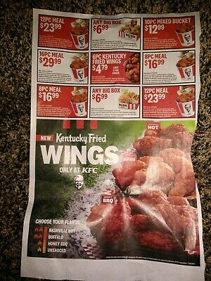 Kentucky Fried Chicken KFC Coupons 9 Count Expires 3/29/20