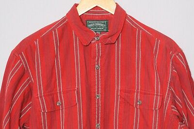 Vintage RALPH LAUREN Polo Country Red Long Sleeve Casual Dress Shirt Mens Large