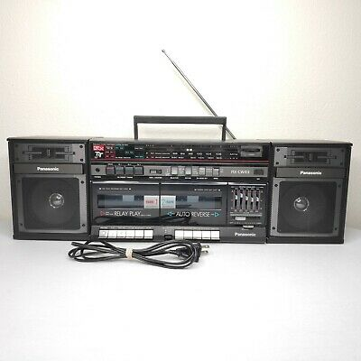 Vintage Panasonic RX-CW43 Double Cassette Stereo Ghetto Blaster Portable Boombox