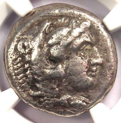 Alexander the Great III AR Tetradrachm Silver Coin 336-323 BC - Certified NGC VG