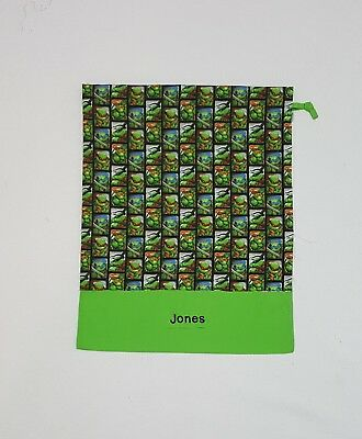 $Free Name Tmnt Ninja Turtle All Over Personalised Embroidery Library Bag Fd