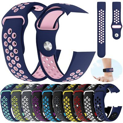 For Fitbit Charge 3 Bands, Soft Silicone Adjustable Replacement Sport Strap Band