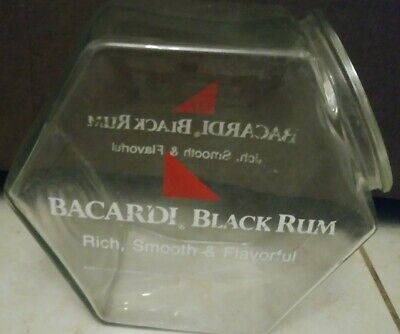 Puerto Rican Rico Rum Bacardi Glass Container For Ice Or Condiment Vintage