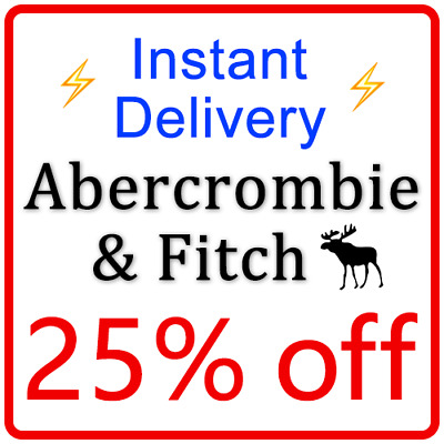 ***25% OFF*** ABERCROMBIE Coupon Promo code CANADA === 10 Seconds Delivery ===