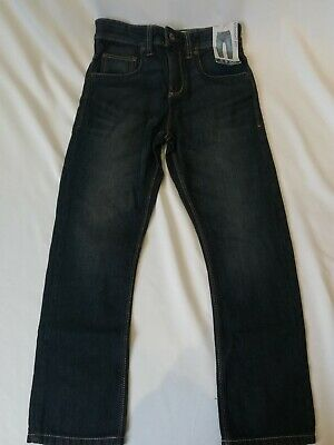 NWT Next Kids Boys Dark Denim Jeans Trousers Clothes 9 years Adjustable Waist