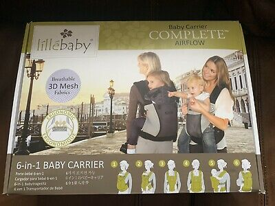 Lillebaby Carrier Complete Airflow 6-in-1 Breathable Mesh Charcoal