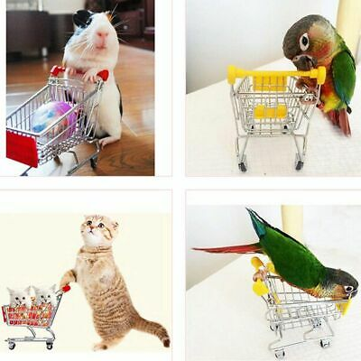Bird Colorful Mini Supermarket Shopping Cart Trolley Pet Bird Parrot Hamster Toy