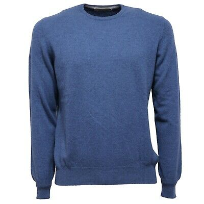 8472W MAGLIONE UOMO ALPHA STUDIO light blue sweater cotton
