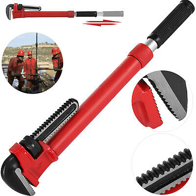 """Steel Adaptable Cheater Pipe Wrench 18""""-22.5"""" Heat Treated Hook Jaw 3"""" Capacity"""