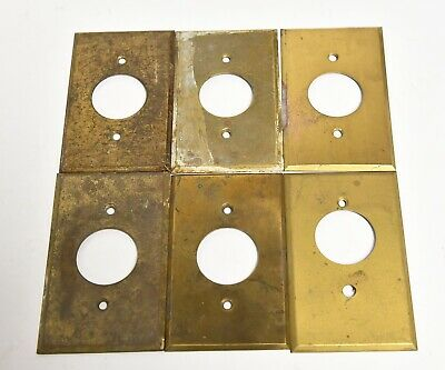 6 Vintage Brass Outlet Or Light Dome Switch Cover Plate