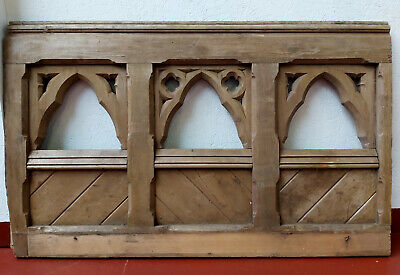 Church Panel Vintage Carved Solid Pine Panel / Pew Book Stand / Church Furniture