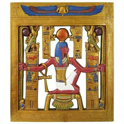"36"" Ancient Egyptian King Tut God Of Eternity Sculptural Wall Frieze Decor"