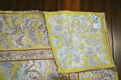"April Cornell Shabby Chic Floral  Cotton Tablecloth  52"" X 52"""