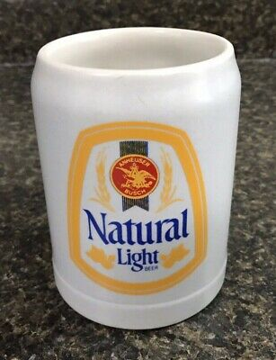 Vintage Ceramarte NATURAL LIGHT Anheuser-Busch Beer Stein Mug