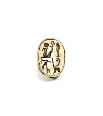 Ancient Late Egyptian Motto Scarab